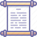 history, log, manuscript, old, paper, scroll, text icon