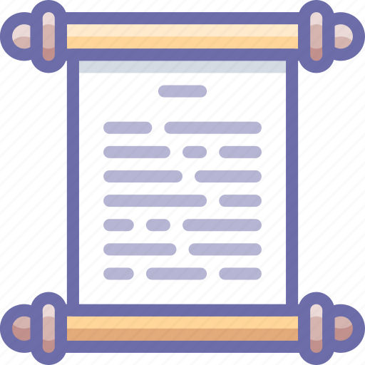history, log, manuscript icon