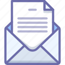 document, email, envelope, file, letter, mail, message icon
