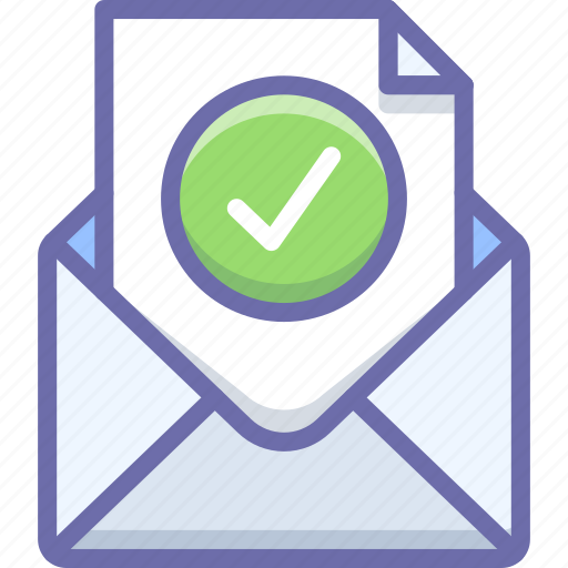 mail, message, verification icon