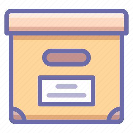 archive, box, documents icon