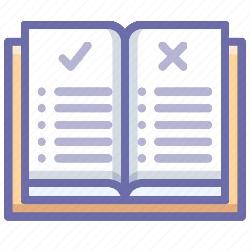 book, education, rules icon