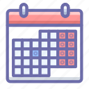calendar, holidays, schedule icon