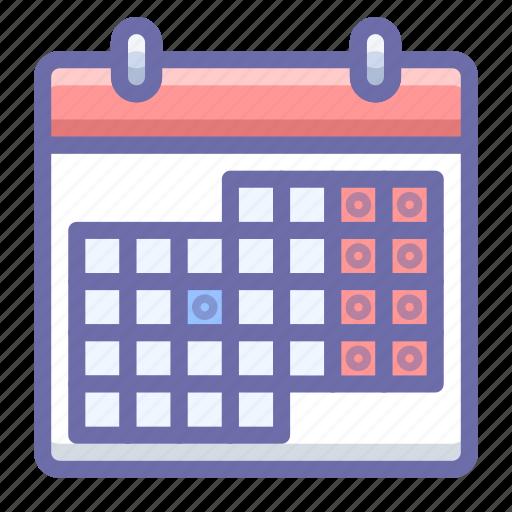 calendar, holidays, schedule icon
