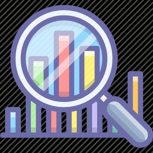 analytics, graph, inspect icon