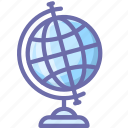 earth, education, geography, globe, knowledge, learn, study icon