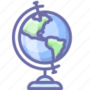 earth, education, geography, globe, knowledge, map, study icon