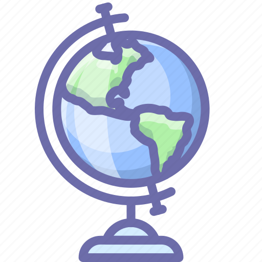 earth, education, geography icon