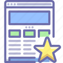 bookmark, seo, website icon