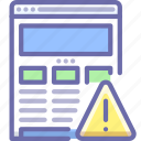 alert, seo, website icon
