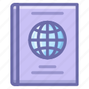 citizen, document, passport icon