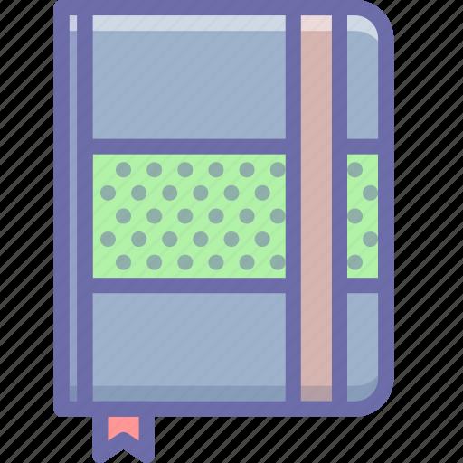 design, moleskine, sketch icon