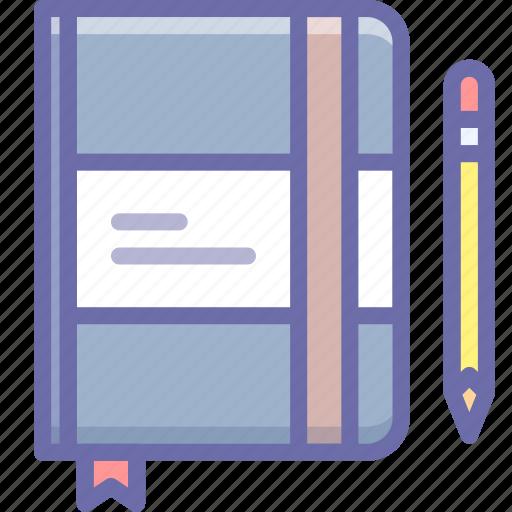 moleskine, notes, sketch icon