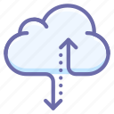 cloud, data, traffic icon