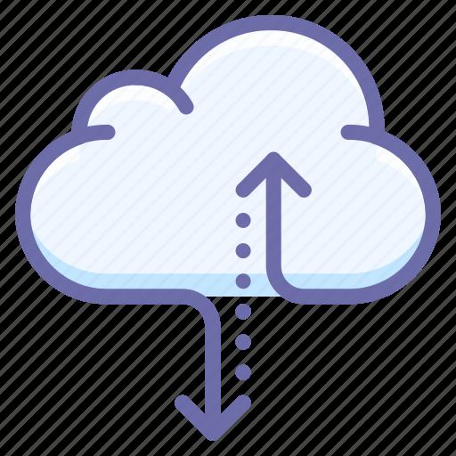 cloud, data, traffic icon