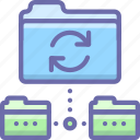 backup, data, sync icon