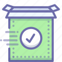 product, ready, setup icon