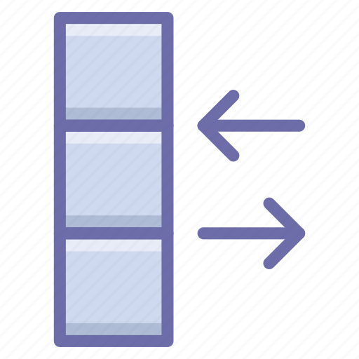 column, data, exchange icon