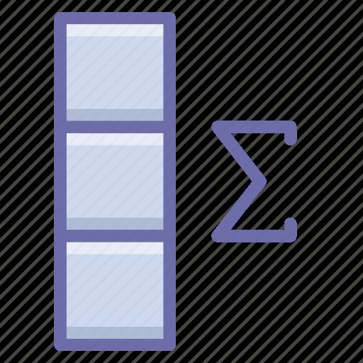 column, data, summary icon