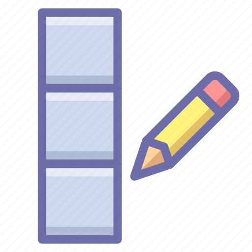 column, data, edit icon