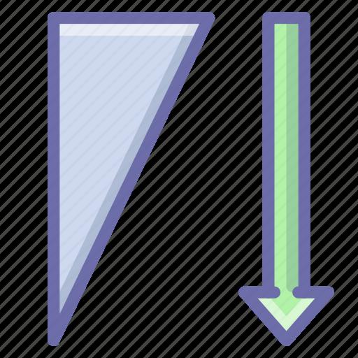 descending, sort, sorting icon