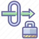 gateway, lock, security icon
