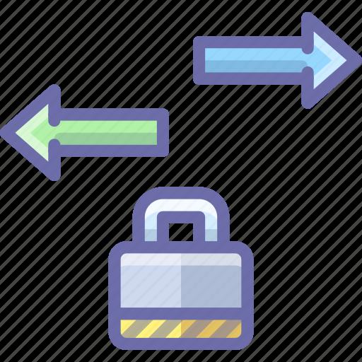 data, lock, traffic icon