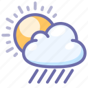 rain, sun, weather icon