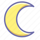 crescent, moon, night icon