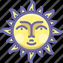 day, face, sun
