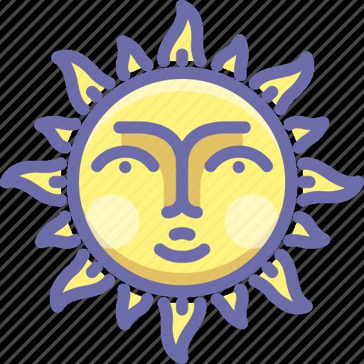 day, face, sun icon