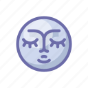face, moon icon