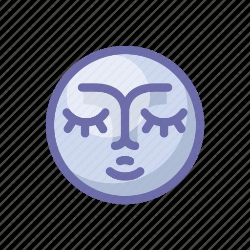 face, moon icon