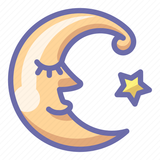 Crescent, moon, face icon - Download on Iconfinder