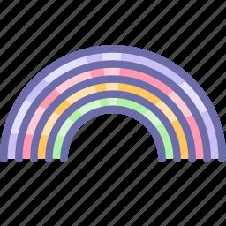 childhood, rainbow icon