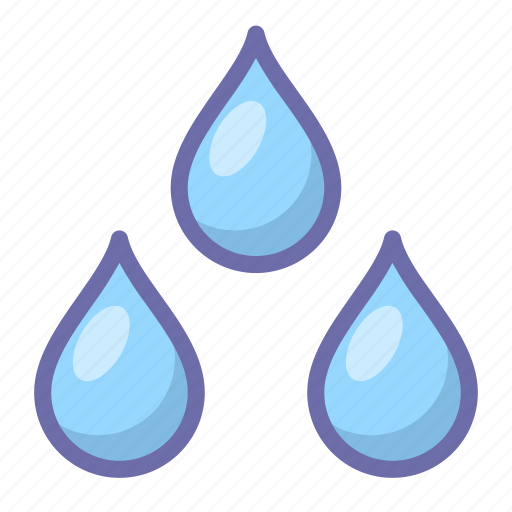 drops, weather, wet icon