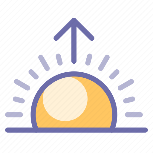 sun, sunrise, weather icon