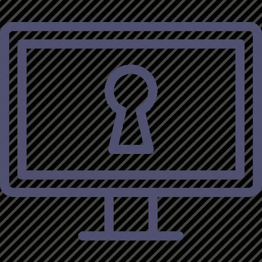 access, display, erotic, hacker, keyhole, remote, secret icon