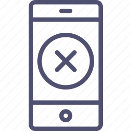 access, denied, locked, smartphone icon