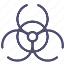 bacterial, biohazard, biological, chemical, danger icon