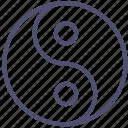 alfa, dialectics, evil, good, omega, philosophy, yin yang icon