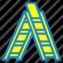 ledder, step, stepledder, tool icon