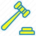 auction, bankrupt, justice, tool icon