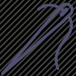handmake, needle, needlework, sew, sewing, thread icon