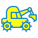 construction, digger, equipment, transportation, vehicle icon