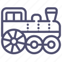 locomotive, railroad, railway, steam, train icon