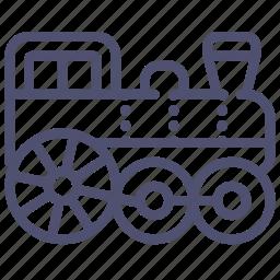 locomotive, railroad, railway, steam, train icon