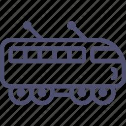 electric, railroad, railway, suburban, train icon