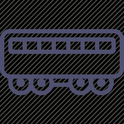 carriage, passenger, railroad, railway, train icon