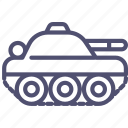 compact, military, panzer, tank icon
